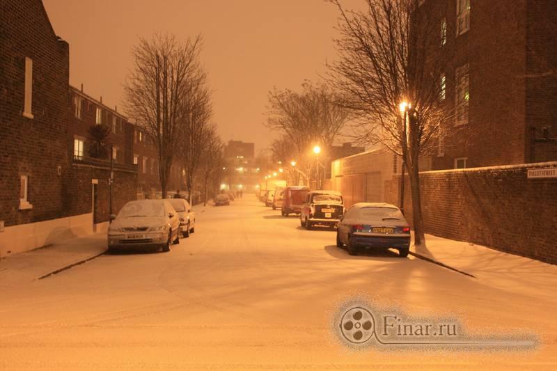 Лондонский снегопад 2009 - все начиналось вполне мирно
