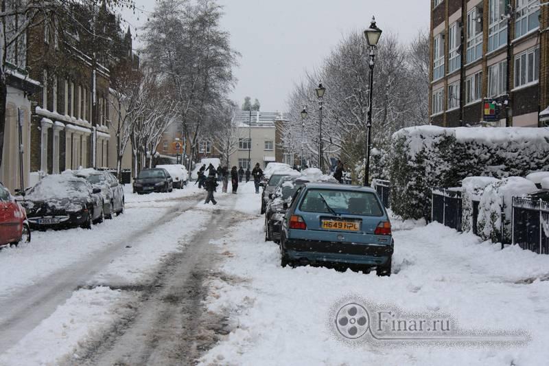 Лондонский снегопад 2009 - всем на радость
