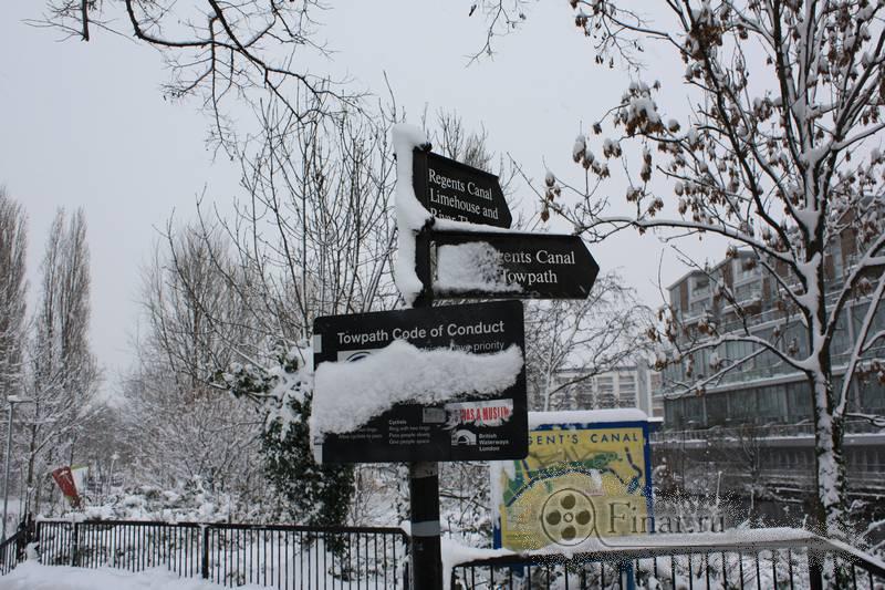 Лондонский снегопад 2009 - Regents Canal