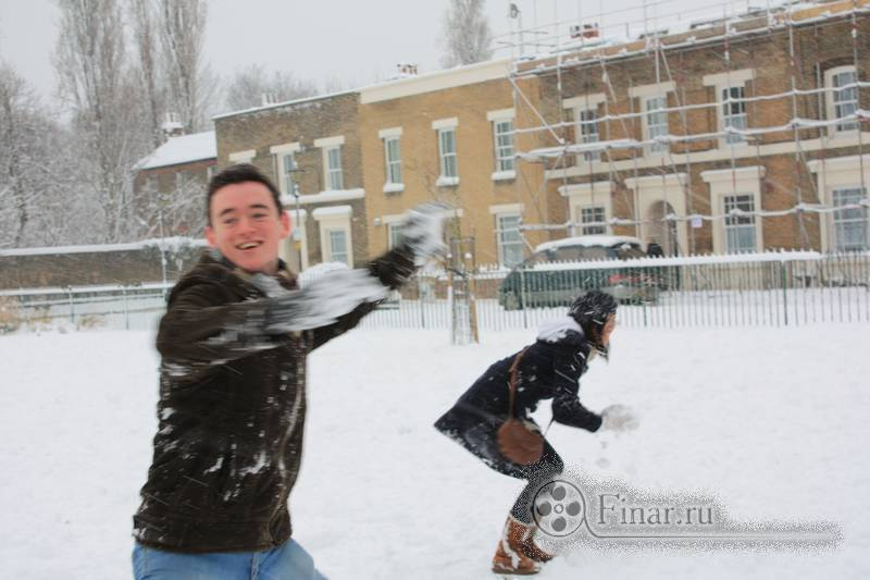 Лондонский снегопад 2009 - реакция аборигенов
