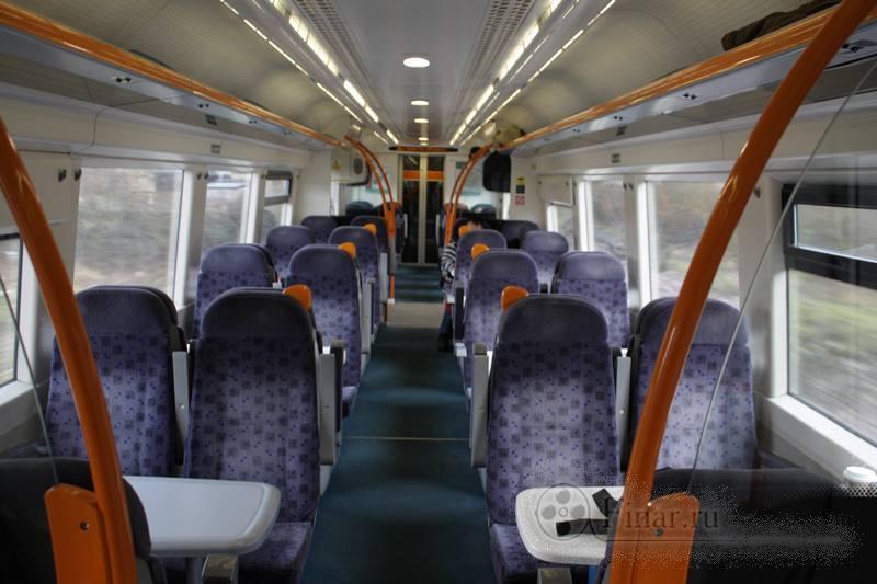 интерьер английского поезда