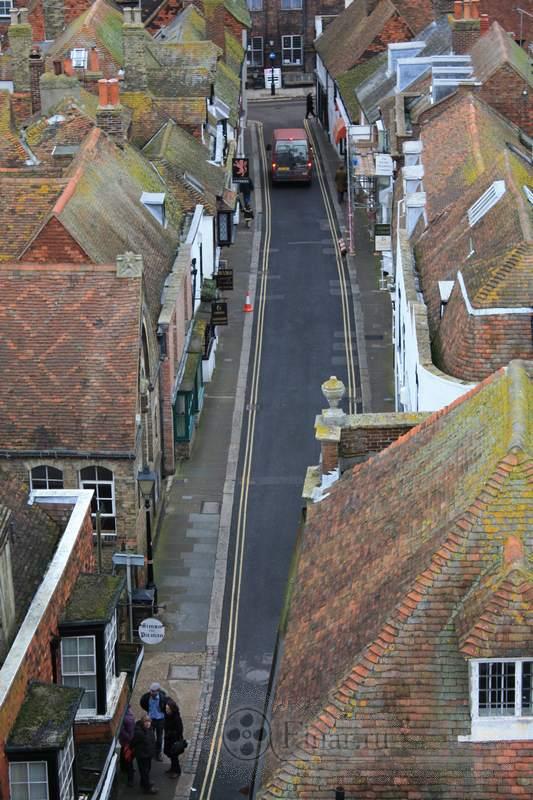 Старая улица Rye, England