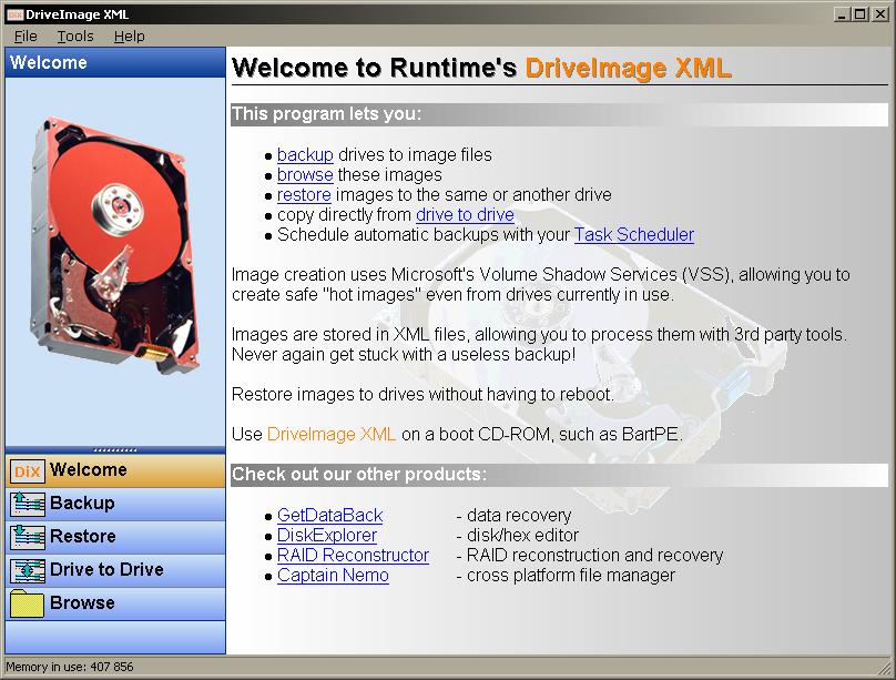 Интерфейс DriveImage XML