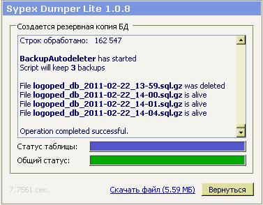 SypexDumper с поддержкой Cron