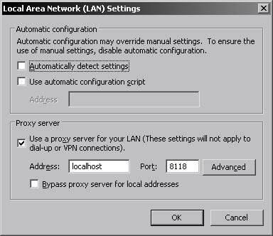 настройки Internet Explorer для сети Tor