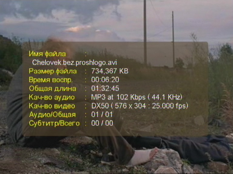 Информация о файле в TViX С-2000 Mini